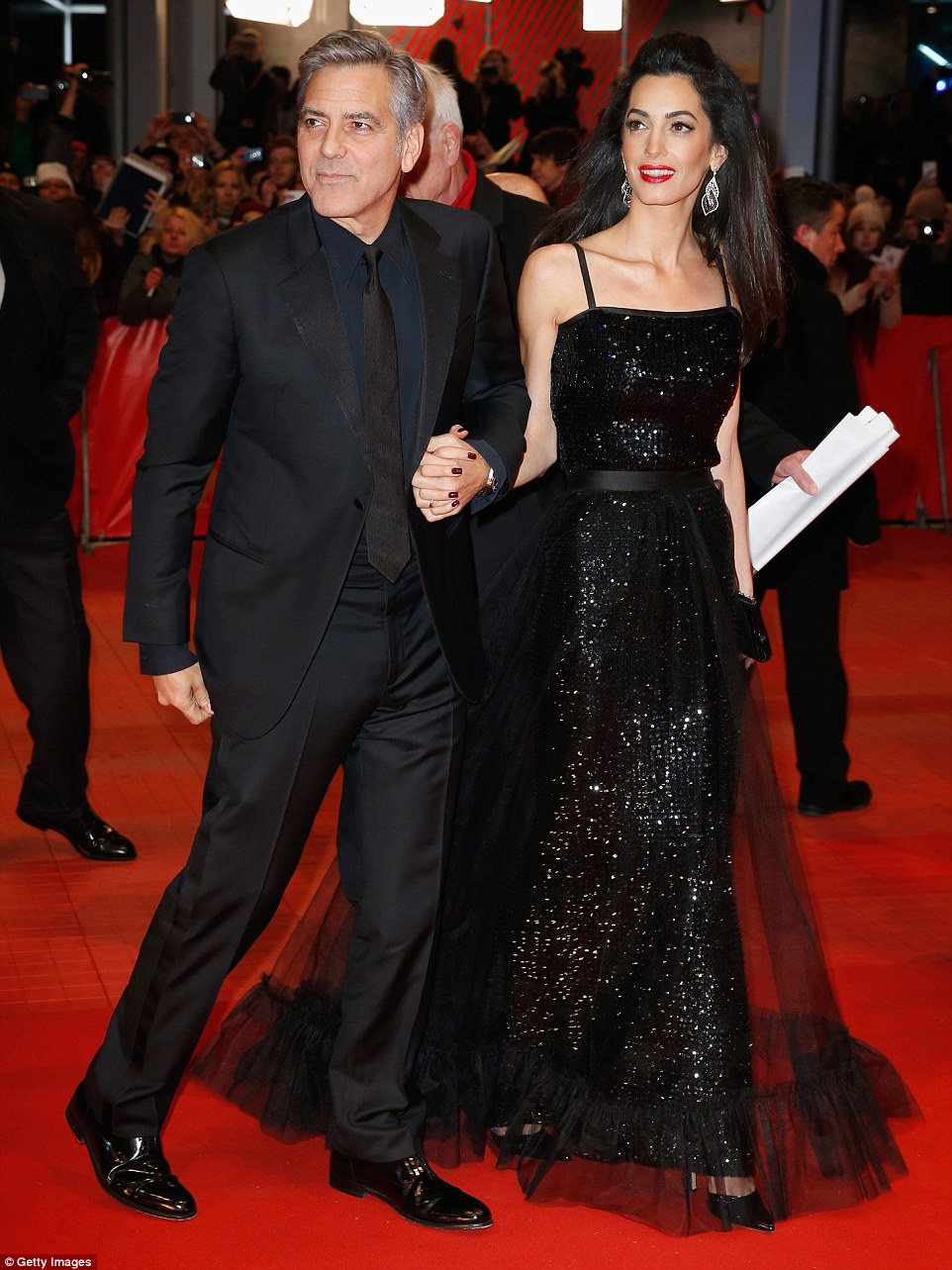 George Clooney and Amal on the red carpet for Hail Caesar Berlin Film Fest premiere 311A062C00000578-3442938-image-m-76_1455218104732