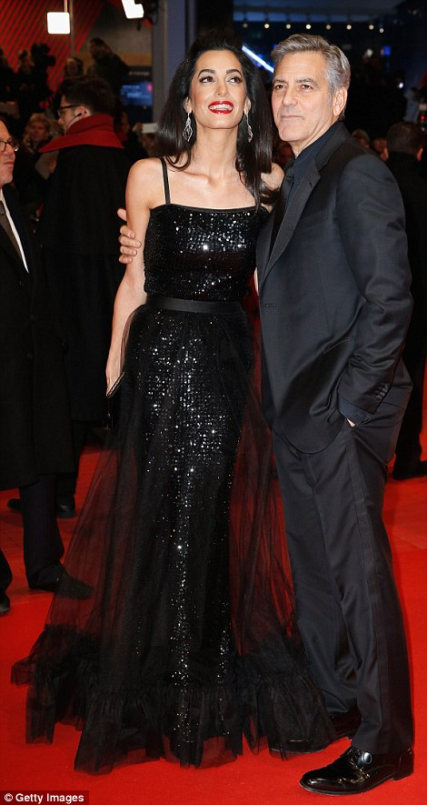 George Clooney and Amal on the red carpet for Hail Caesar Berlin Film Fest premiere 311A069E00000578-3442938-image-m-80_1455218231361