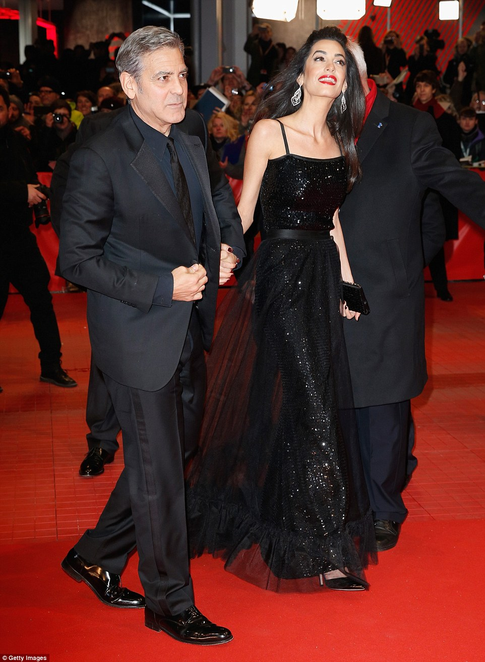 George Clooney and Amal on the red carpet for Hail Caesar Berlin Film Fest premiere 311A06A600000578-3442938-image-m-94_1455218447171
