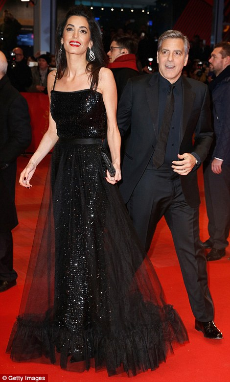 George Clooney and Amal on the red carpet for Hail Caesar Berlin Film Fest premiere 311A06AA00000578-3442938-image-m-100_1455218794687
