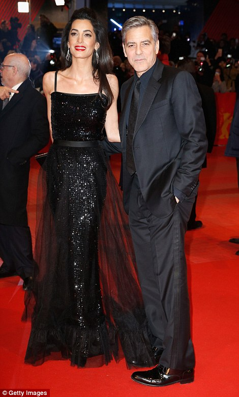 George Clooney and Amal on the red carpet for Hail Caesar Berlin Film Fest premiere 311A06AE00000578-3442938-image-a-101_1455218804810