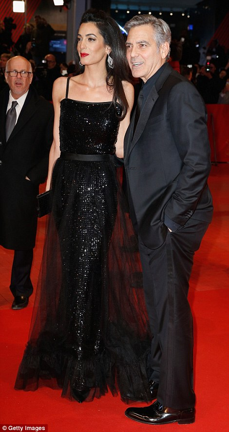 George Clooney and Amal on the red carpet for Hail Caesar Berlin Film Fest premiere 311A06B200000578-3442938-image-a-81_1455218240701