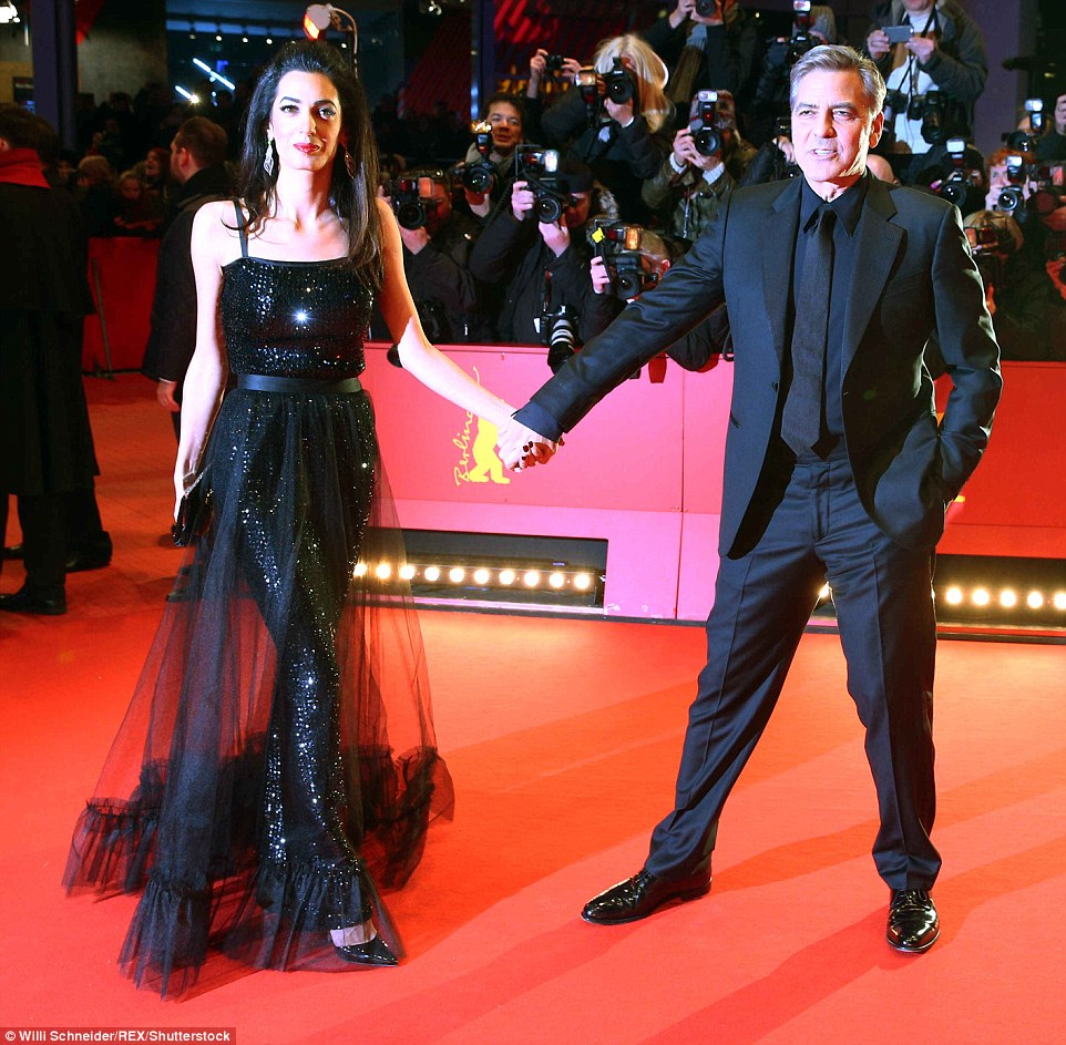George Clooney and Amal on the red carpet for Hail Caesar Berlin Film Fest premiere 311A080000000578-3442938-image-m-97_1455218654705