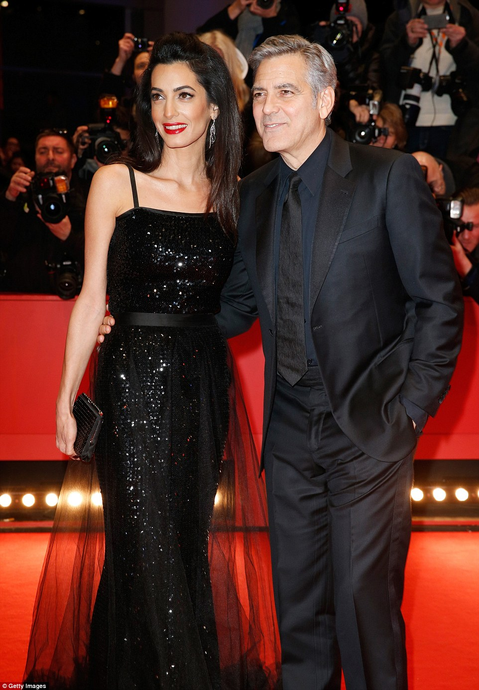 George Clooney and Amal on the red carpet for Hail Caesar Berlin Film Fest premiere 311A08D500000578-3442938-image-m-170_1455220683325