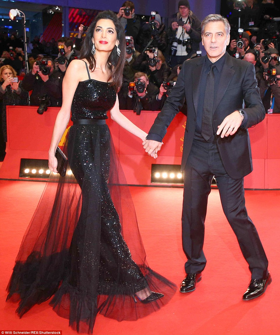 George Clooney and Amal on the red carpet for Hail Caesar Berlin Film Fest premiere 311A131900000578-3442938-image-m-95_1455218516704