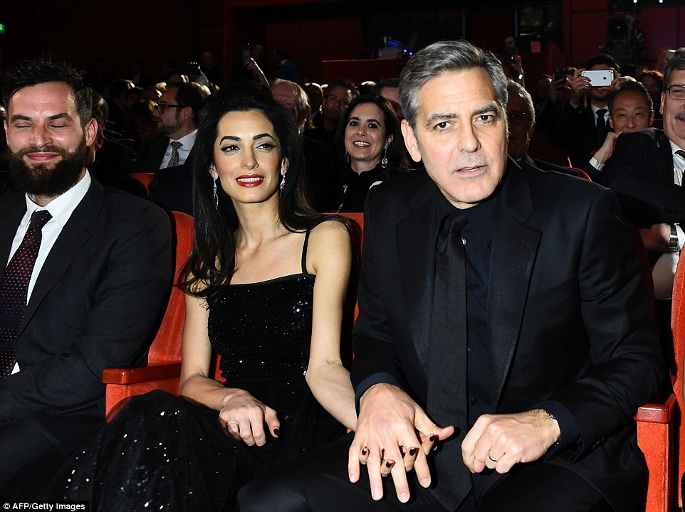 George Clooney and Amal on the red carpet for Hail Caesar Berlin Film Fest premiere 311A198E00000578-3442938-image-m-157_1455220289063