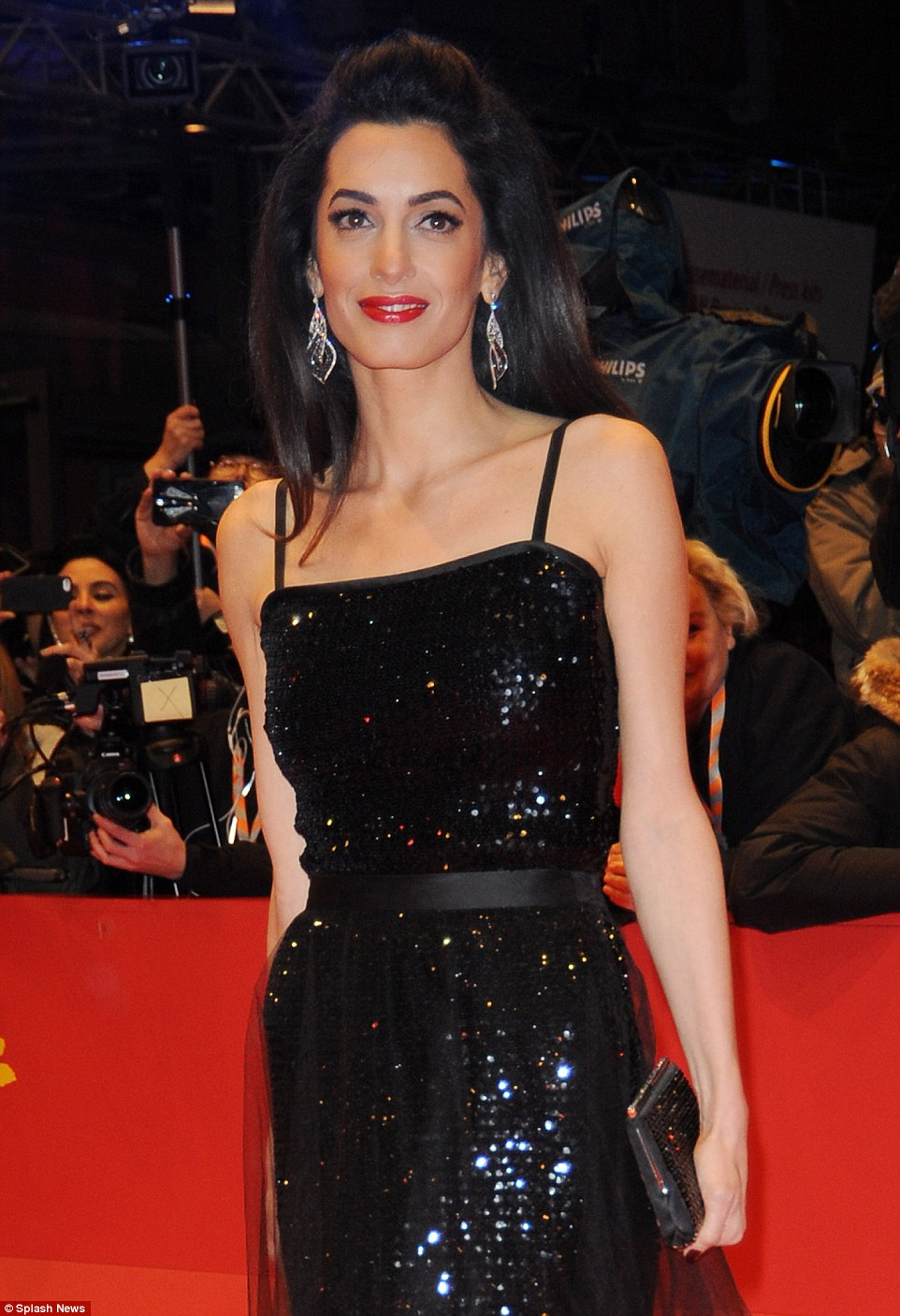 George Clooney and Amal on the red carpet for Hail Caesar Berlin Film Fest premiere 311A1D0200000578-3442938-image-m-169_1455220638973