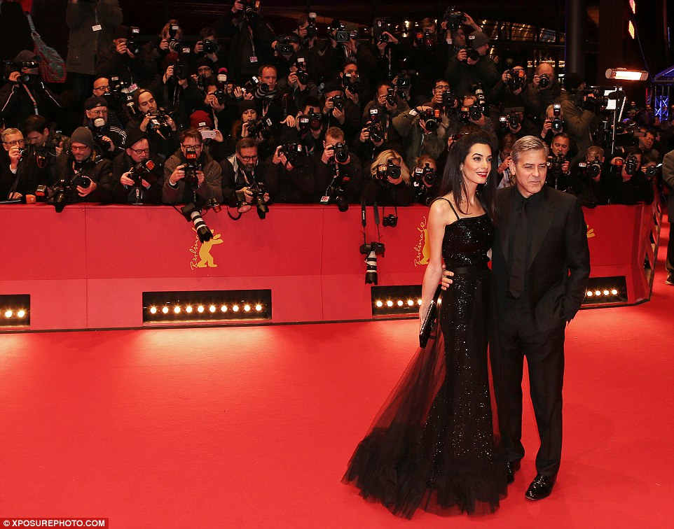 George Clooney and Amal on the red carpet for Hail Caesar Berlin Film Fest premiere 311A37A400000578-3442938-image-a-133_1455219686319