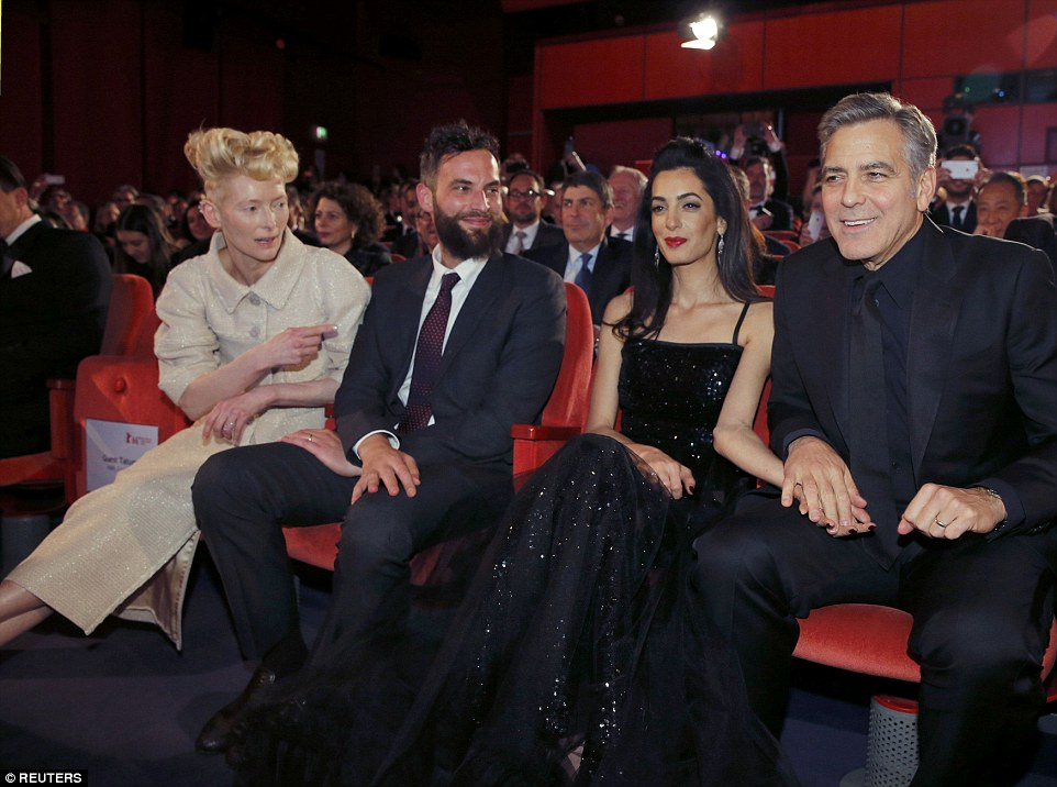 George Clooney and Amal on the red carpet for Hail Caesar Berlin Film Fest premiere 311A4CFE00000578-3442938-image-a-134_1455219773271