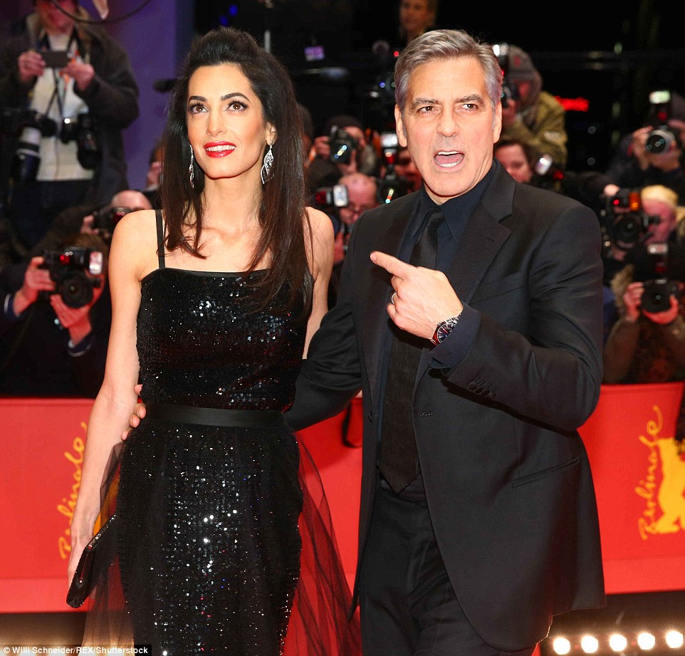 George Clooney and Amal on the red carpet for Hail Caesar Berlin Film Fest premiere 311A085900000578-3442938-image-m-172_1455220865396
