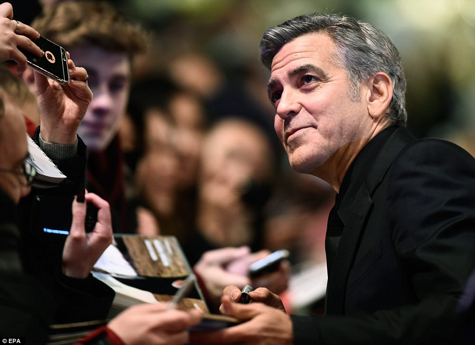 George Clooney and Amal on the red carpet for Hail Caesar Berlin Film Fest premiere 311A182B00000578-3442938-image-a-184_1455221860383