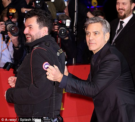 George Clooney and Amal on the red carpet for Hail Caesar Berlin Film Fest premiere 311A321400000578-3442938-image-m-186_1455221883417