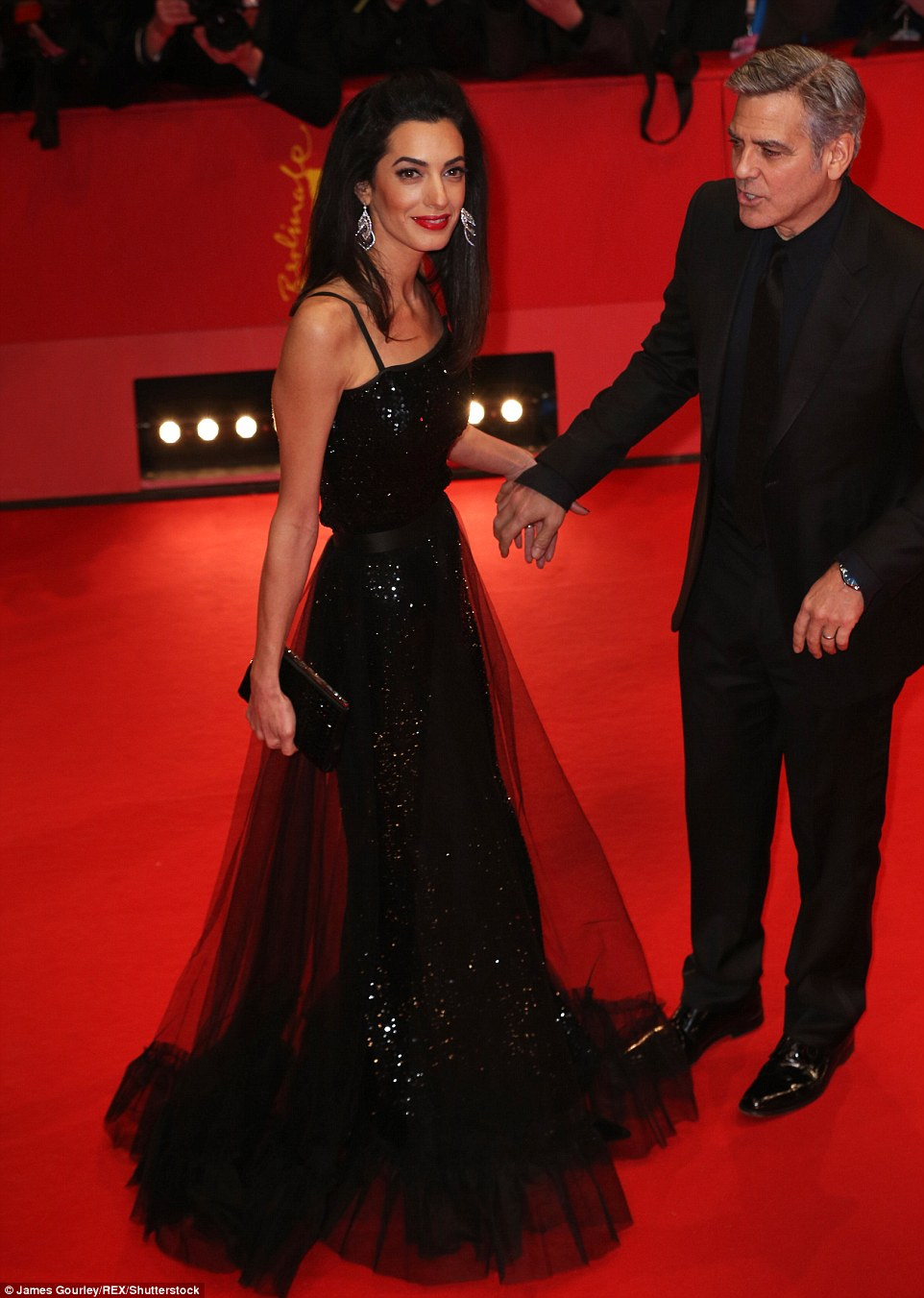George Clooney and Amal on the red carpet for Hail Caesar Berlin Film Fest premiere 311A383F00000578-3442938-image-m-171_1455220801160