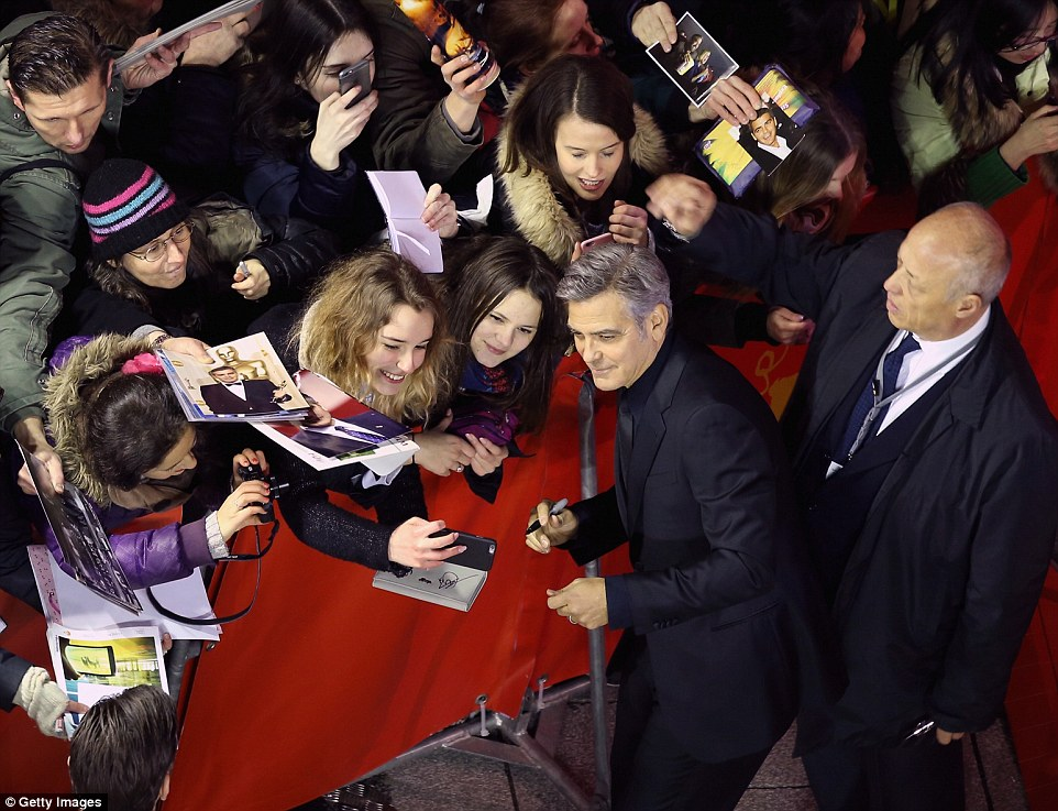 George Clooney and Amal on the red carpet for Hail Caesar Berlin Film Fest premiere 311A78DB00000578-3442938-image-m-5_1455222456323
