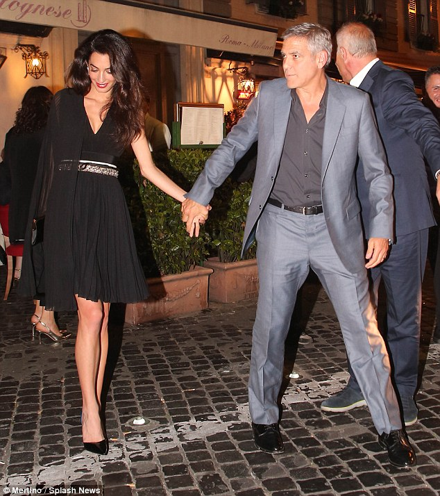 George and Amal out for dinner in Rome May 29 2016 34BE625300000578-3615139-image-m-26_1464532729156