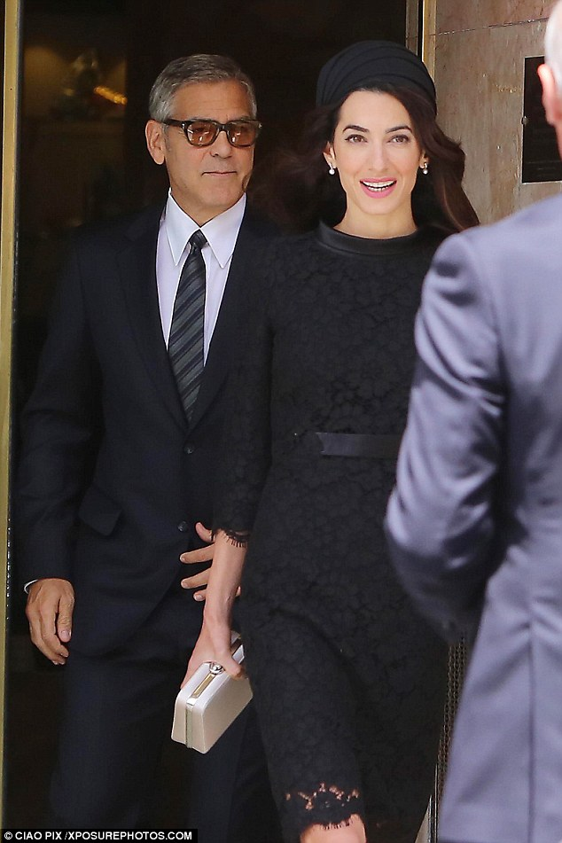 George and Amal out for dinner in Rome May 29 2016 34BF299200000578-3615139-image-a-34_1464533864263