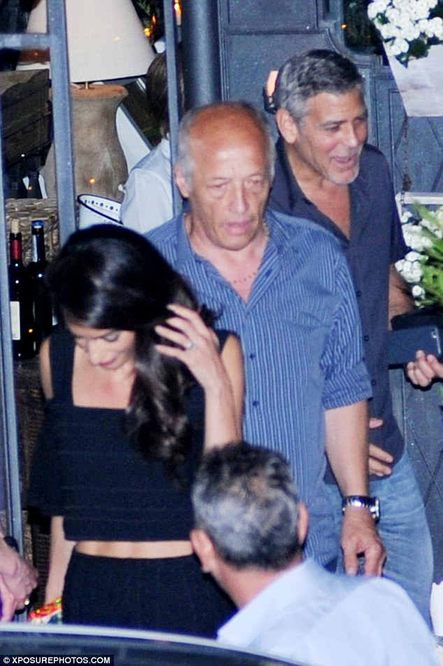 George Clooney & amal at dinner date al gatto nero restaurant Italy 23 June 2016 35A2B84100000578-0-image-a-2_1466806746577