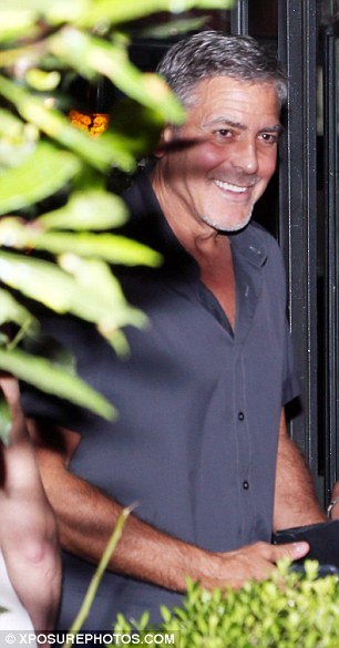 George Clooney & amal at dinner date al gatto nero restaurant Italy 23 June 2016 35A2B89100000578-0-image-a-8_1466806794764