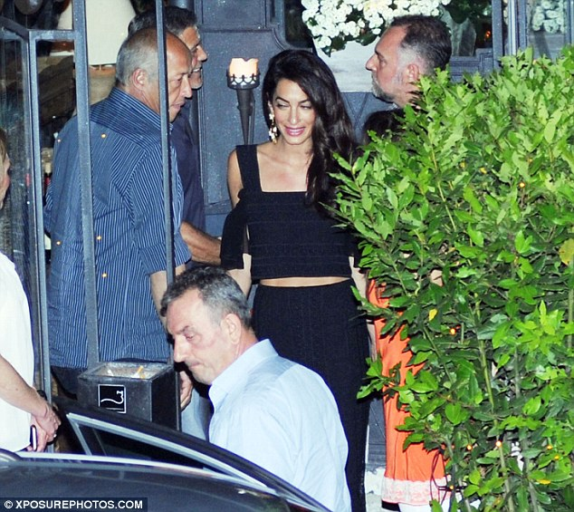 George Clooney & amal at dinner date al gatto nero restaurant Italy 23 June 2016 35A2B77D00000578-3659242-image-m-37_1466809676840