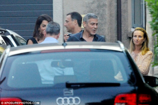 George Clooney & amal at dinner date al gatto nero restaurant Italy 23 June 2016 35A2B7C900000578-3659242-image-a-56_1466810055817