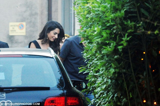 George Clooney & amal at dinner date al gatto nero restaurant Italy 23 June 2016 35A2B7EE00000578-3659242-image-a-69_1466811434336
