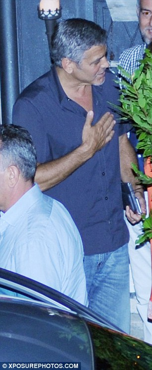 George Clooney & amal at dinner date al gatto nero restaurant Italy 23 June 2016 35A2B80400000578-3659242-image-a-55_1466810011802