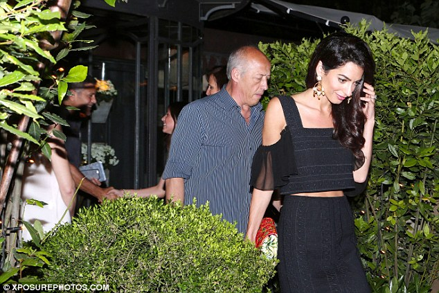 George Clooney & amal at dinner date al gatto nero restaurant Italy 23 June 2016 35A2B87700000578-3659242-image-a-70_1466813421082