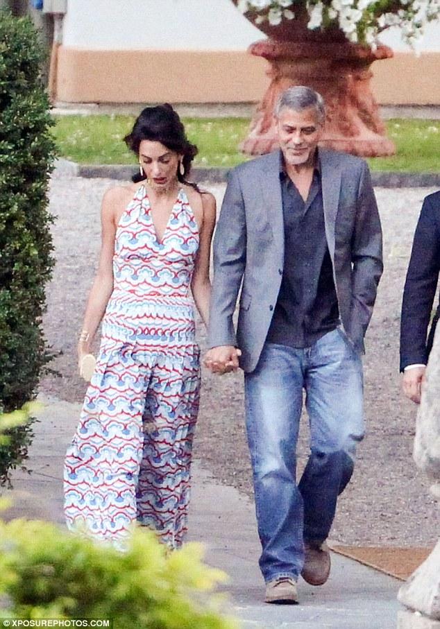 George and Amal at Villa d'Este 35F825F600000578-3675403-image-a-321_1467729869213