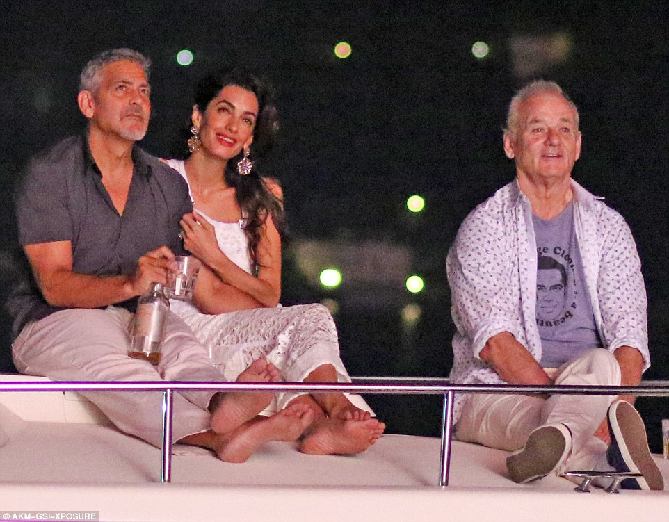 George Clooney, Amal & Bill Murray - Fourth of July Pictures 2016 3636075C00000578-0-image-m-75_1468373063826