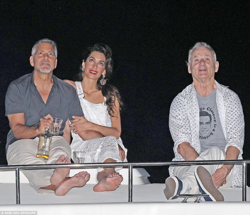 George Clooney, Amal & Bill Murray - Fourth of July Pictures 2016 3636080C00000578-0-image-m-77_1468373109509