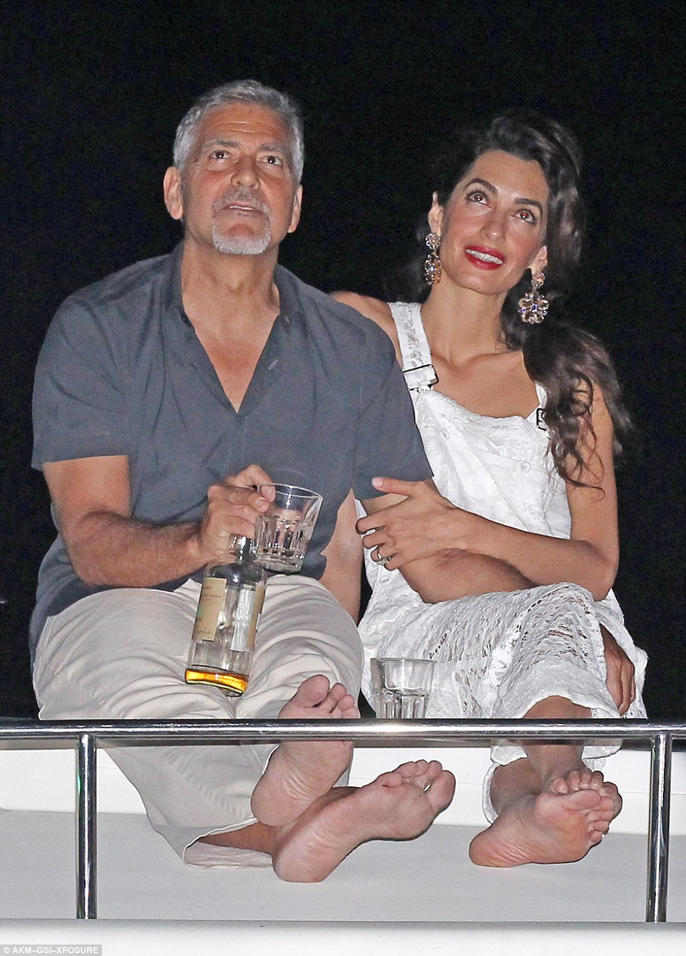 George Clooney, Amal & Bill Murray - Fourth of July Pictures 2016 3636082F00000578-0-image-m-82_1468373458968