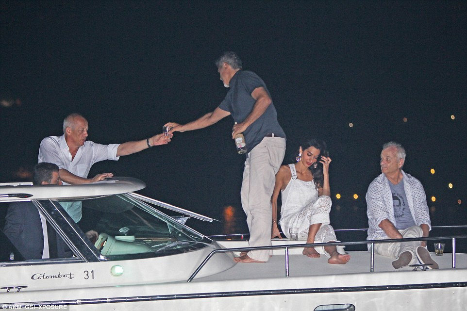 George Clooney, Amal & Bill Murray - Fourth of July Pictures 2016 3636091600000578-0-image-a-50_1468372924800