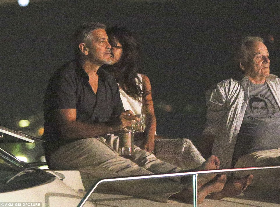 George Clooney, Amal & Bill Murray - Fourth of July Pictures 2016 3636033600000578-3687566-image-a-21_1468379015830