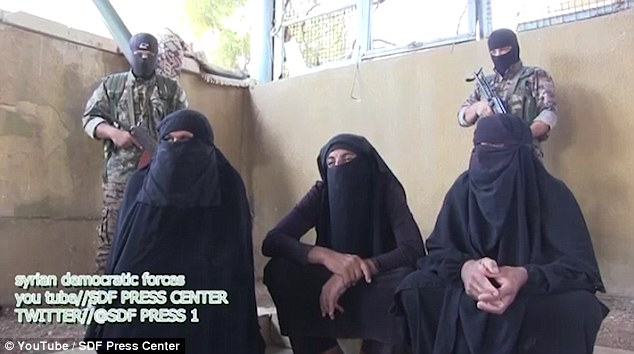 Caught red-handed: ISIS fighters are captured trying to flee battlefield in Syria dressed as WOMEN in full black veils  3692A86500000578-0-image-a-21_1469444514115