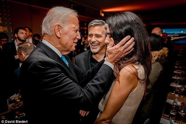 george and amal clooney in davos world economic forum Jan 2017 3C3A747D00000578-0-image-a-116_1484723999740
