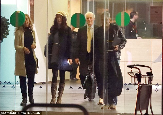 George and Amal Clooney leave Spain 3CCD58B200000578-4188588-image-a-23_1486133554675