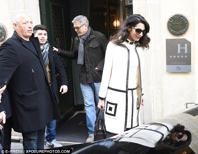 George and Amal Clooney go for a walk 3DA7276800000578-4259400-image-a-101_1488036923215