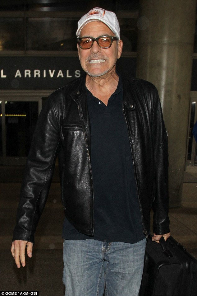 George back in L.A. 03/22/2017 3E8A38BC00000578-4340716-Touting_his_brand_He_chose_to_advertise_his_own_tequila_brand_wh-a-7_1490235815409
