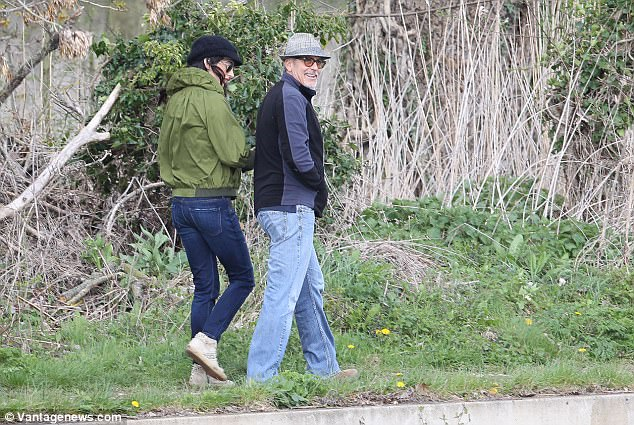 George and Amal out for a walk 3ED5476800000578-4371194-image-a-74_1491061669445