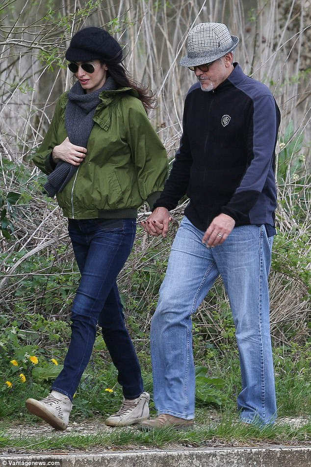George and Amal out for a walk 3ED5485000000578-4371194-image-a-57_1491061276256