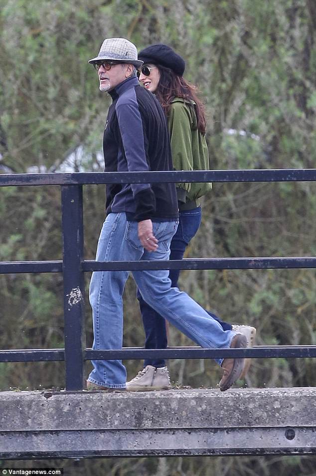 George and Amal out for a walk 3ED5489500000578-4371194-image-a-60_1491061286002