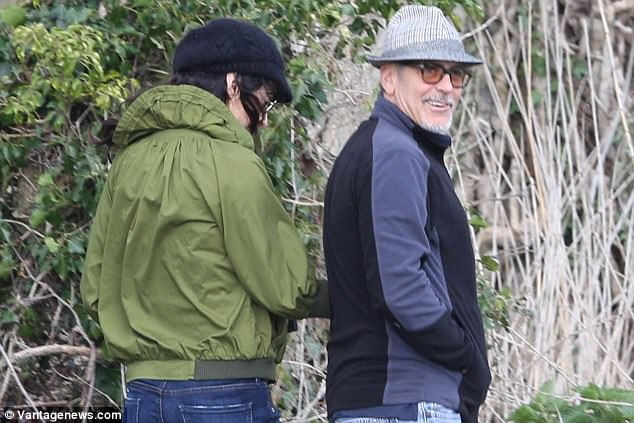 George and Amal out for a walk 3ED548B500000578-4371194-image-a-88_1491061845791