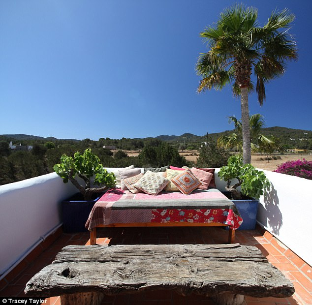 Amal Clooney's makeup artist reveals Ibiza villa 3FCDC2C700000578-4462386-The_boho_chic_finca_is_decorated_with_finds_from_Louise_s_travel-a-36_1493649346787