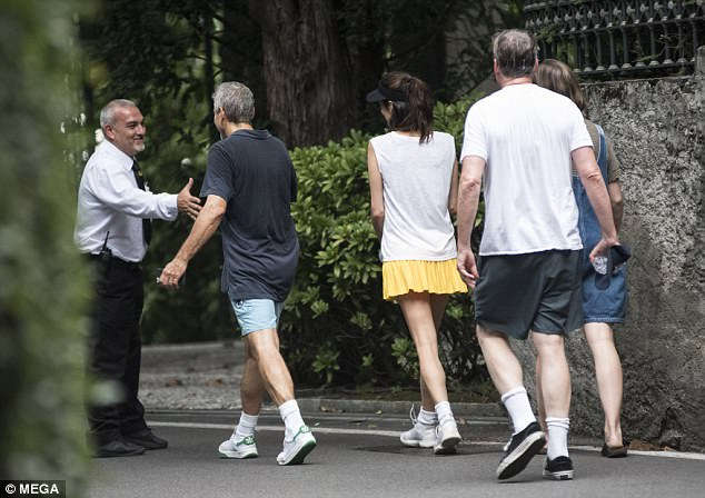 George and Amal play tennis - Second Round 437205E700000578-0-image-a-40_1503347149086