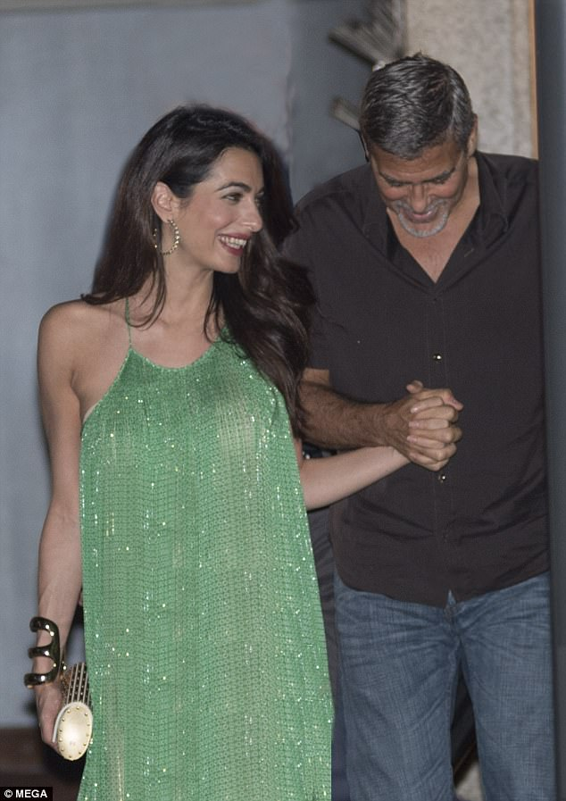 George and Amal out and about at Harry's Bar in Cernobbio 436C4C9D00000578-4808394-Hello_gorgeous_Amal_Clooney_was_beaming_when_she_and_her_greying-a-2_1503386439915