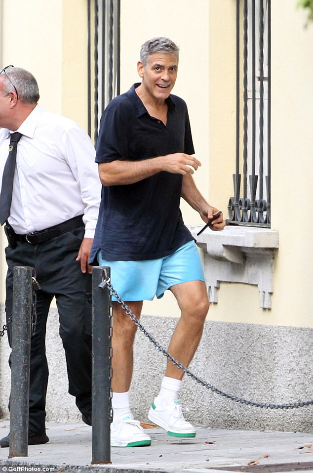 George Clooney out for a jog 43AC643C00000578-4833002-image-a-77_1504008152778
