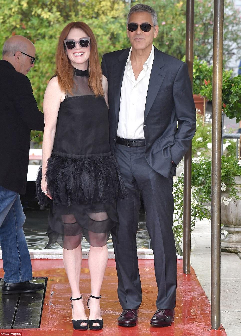 George and the Suburbicon cast in Venice 43C76F1F00000578-0-image-m-109_1504260977798