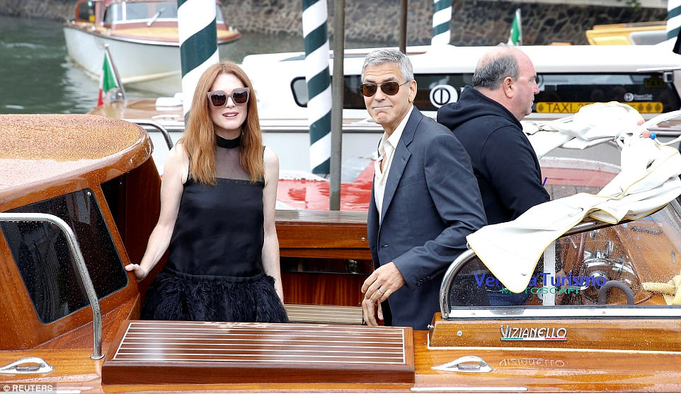 George and the Suburbicon cast in Venice 43C76FD000000578-4843716-image-m-144_1504262990349