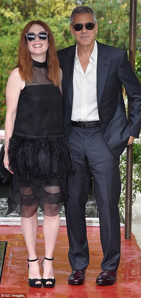 George and the Suburbicon cast in Venice 43C773F000000578-4843716-image-m-131_1504262793736