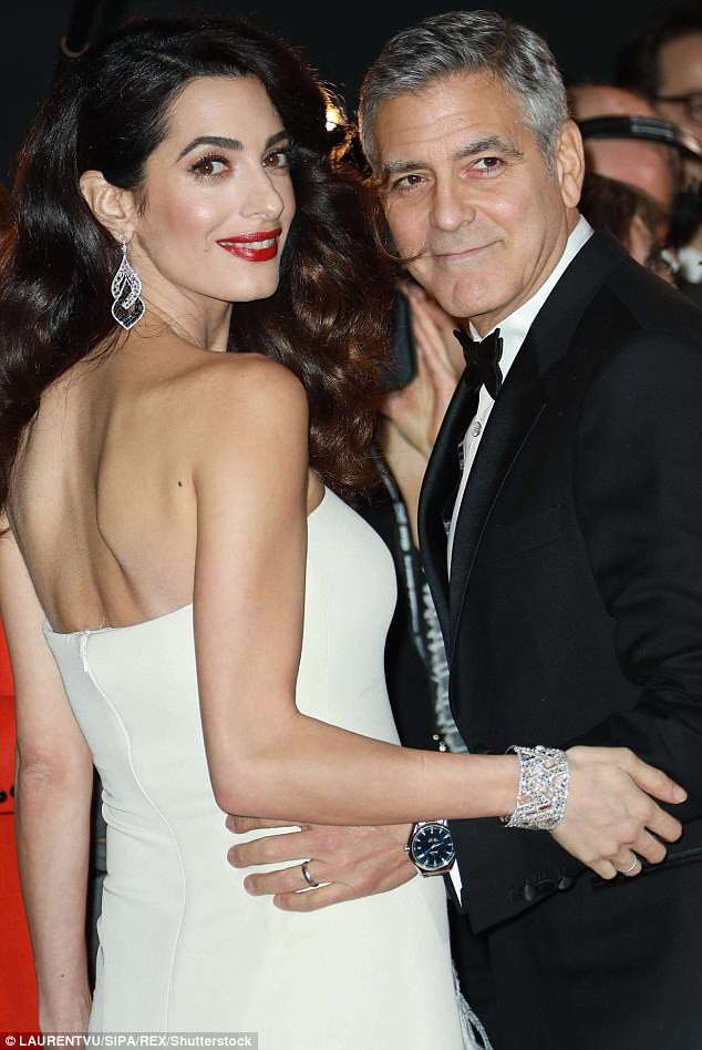 George and Amal and party at Da Ivo Venice tonight 43AE428A00000578-4846262-image-m-45_1504343944385